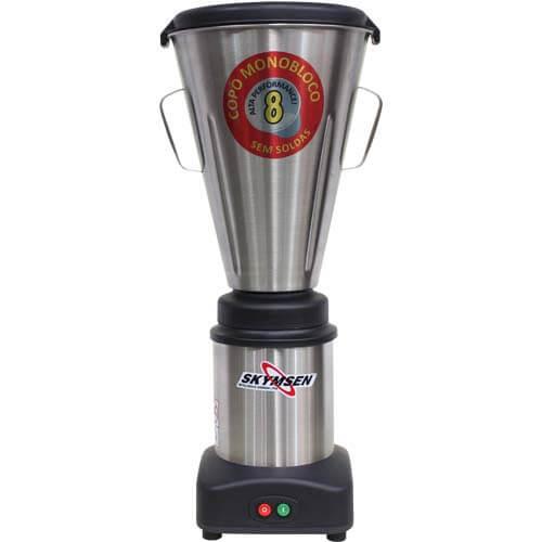 Liquidificador Inox 8L Copo Monobloco Skymsen LS-08MB-N 127V  - ZIP Automação