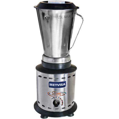 Liquidificador Inox Alta Rotação 1,5L Metvisa LARL.1,5 127V  - ZIP Automação
