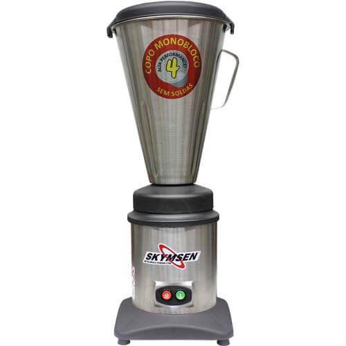 Liquidificador Inox Alta Rotação 4L Copo Monobloco Skymsen TA-04MB-N 127V  - ZIP Automação