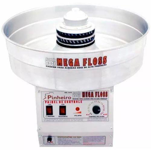 Máquina de Algodão Doce Industrial Inox Pinheiro Mega Floss PA-MF 220V  - ZIP Automação