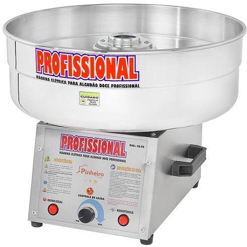 Máquina de Algodão Doce Profissional Inox Pinheiro PA-PR PL Bivolt  - ZIP Automação