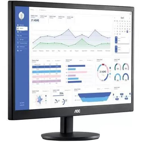 Monitor LED 23,6 pol. Widescreen AOC M2470SWH2 S  - ZIP Automação
