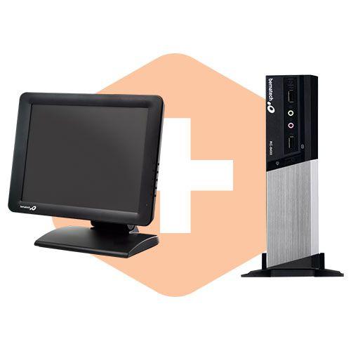 Monitor TM-15 + Computador RC-8400 - Bematech  - ZIP Automação