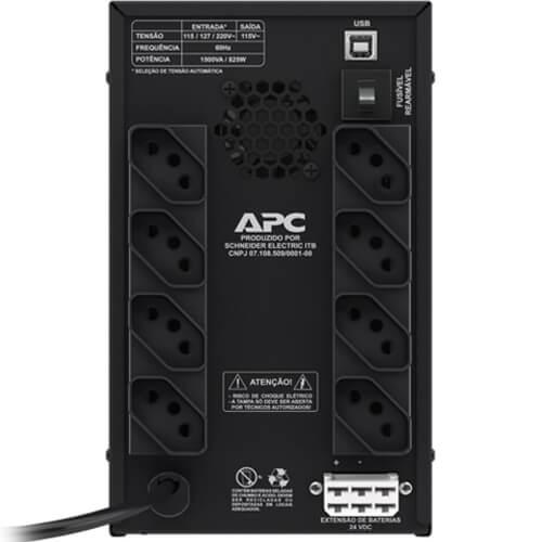 Nobreak APC 1500VA Back-UPS BZ1500PBI-BR Entrada Bivolt  - ZIP Automação