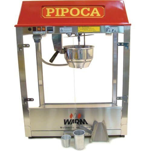 Pipoqueira Elétrica 500g / 18oz PLX - Warm  - ZIP Automação