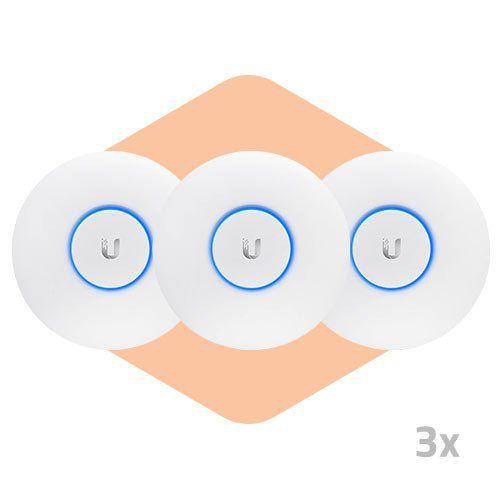 Ponto de Acesso UniFi AP AC Lite - Ubiquiti - 3 Unidades  - ZIP Automação