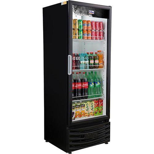Refrigerador Expositor Vertical 410L Frilux Visacooler RF-004 Preto 127V  - ZIP Automação