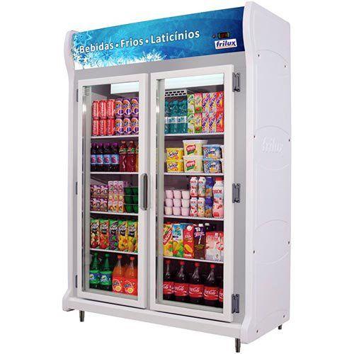 Refrigerador Expositor Vertical 860L Frilux Luxo RF-026 220V  - ZIP Automação