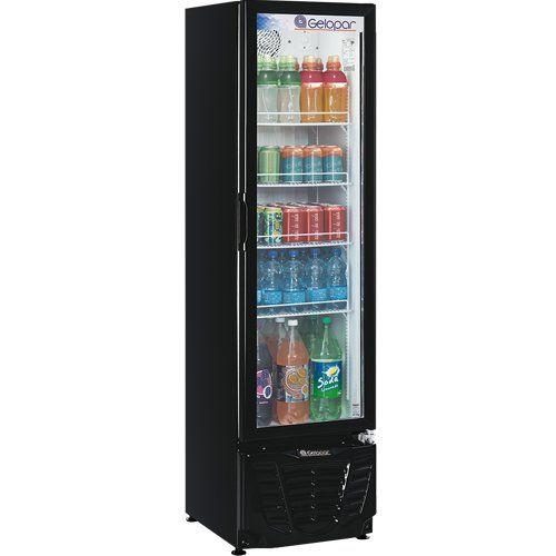 Refrigerador Expositor Vertical 230L Gelopar Turmalina GPTU-230 PR 127V  - ZIP Automação