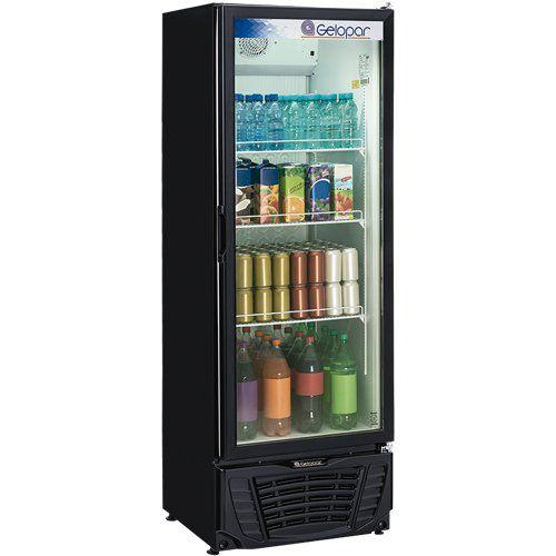 Refrigerador Expositor Vertical 570L Gelopar Turmalina GPTU-570AF PR 220V  - ZIP Automação