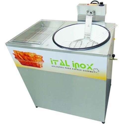 Tacho de Fritura Flex (Elétrico e a Gás) c/ Gabinete 7L Ital Inox FPGI-7 F 127V  - ZIP Automação