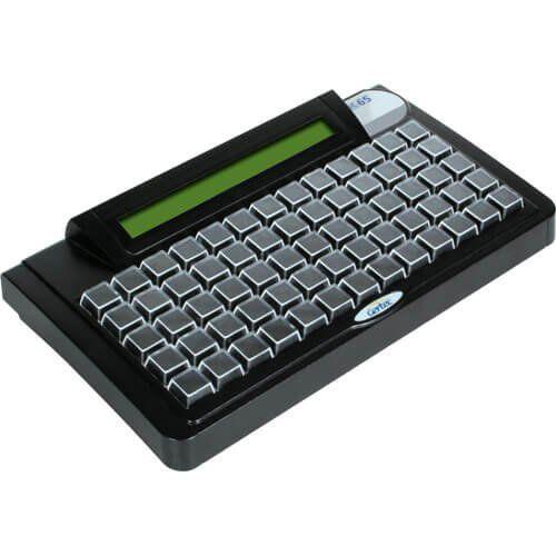 Teclado Programável Gertec TEC-E 65 c/ Display PS2  - ZIP Automação
