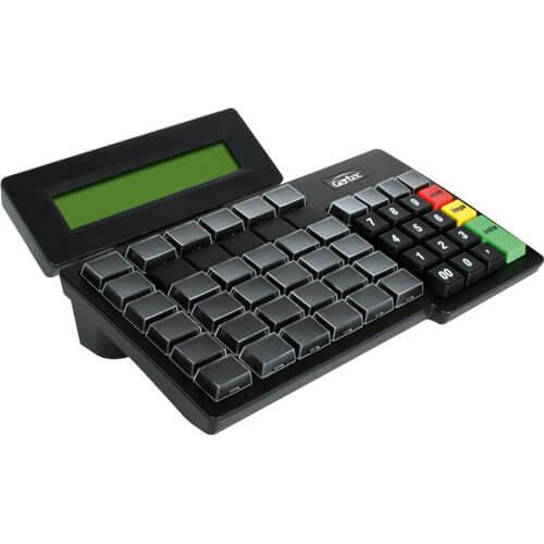 Teclado Programável Gertec TEC 55 c/ Display PS2  - ZIP Automação