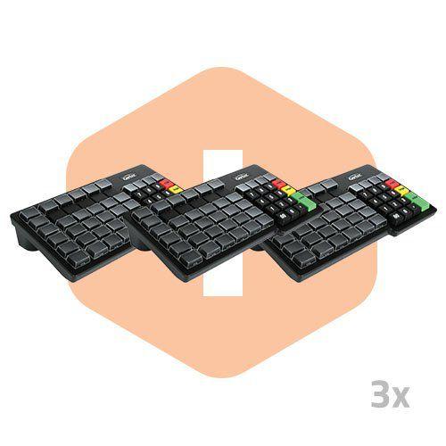 Teclado Programável TEC 55 - Gertec - 3 Unidades  - ZIP Automação