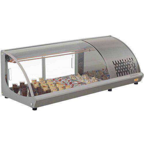 Vitrine Refrigerada Bancada 1,2m GVRT-120 c/ Termostato - Gelopar  - ZIP Automação