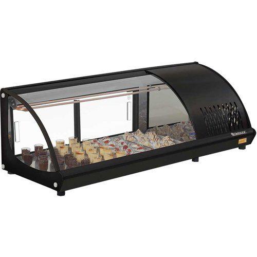 Vitrine Refrigerada de Bancada 1,20m GVRT-120 PR c/ Termostato - Gelopar  - ZIP Automação