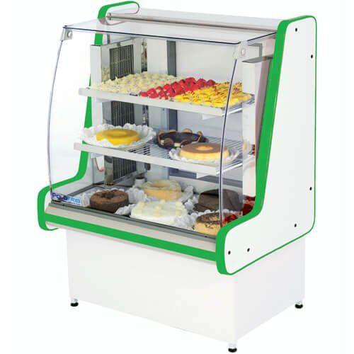 Vitrine Refrigerada Pop Luxo 1,25m Vidro Semi Curvo - Polofrio  - ZIP Automação