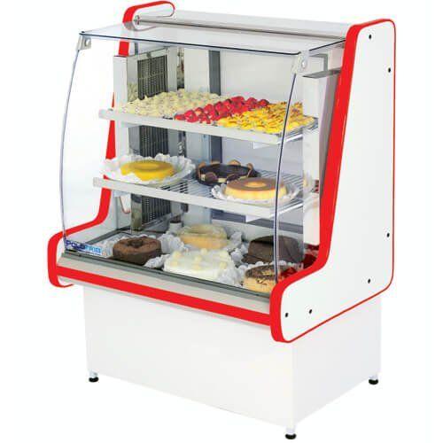 Vitrine Refrigerada Pop Luxo 1,5m Vidro Semi Curvo - Polofrio  - ZIP Automação