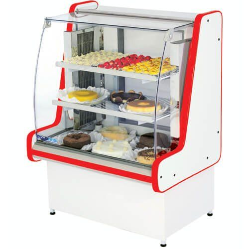 Vitrine Refrigerada Pop Luxo 1m Vidro Reto - Polofrio  - ZIP Automação