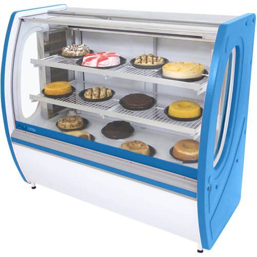 Vitrine Refrigerada Premium 1,25m Vidro Semi Curvo - Polofrio  - ZIP Automação