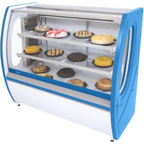 Vitrine Refrigerada Premium 1m Vidro Semi Curvo - Polofrio  - ZIP Automação