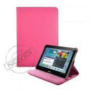 Capa em Couro para Samsung Galaxy Tab 2 10.1 P5100 com Suporte 360º - Cor Rosa