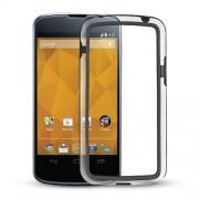 Capa Bumper para LG Nexus 4 E960 - Cor Preta / Transparente