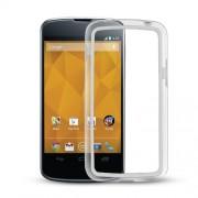 Capa Bumper para LG Nexus 4 E960 - Cor Branco / Transparente