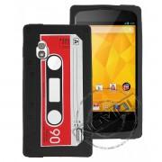 Capa Personalizada Fita Cassete para LG Nexus 4 E960 - Cor Preta