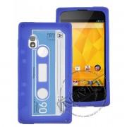 Capa Personalizada Fita Cassete para LG Nexus 4 E960 - Cor Azul
