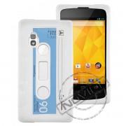 Capa Personalizada Fita Cassete para LG Nexus 4 E960 - Cor Branca