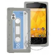 Capa Personalizada Fita Cassete para LG Nexus 4 E960 - Cor Cinza