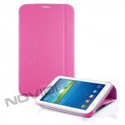 Capa Dobrável c/ Suporte para Samsung Galaxy Tab 3 7.0 - Cor Rosa