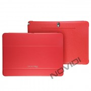 Capa Dobrável c/ Suporte para Samsung Galaxy Tab 10.1 P6010 (2014 Edition) - Cor Vermelha