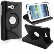 Capa em couro com suporte 360º para Tablet Samsung Galaxy Tab 3 Lite T110 / T111 - Cor Preta