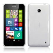 Kit Capa de TPU Premium + Película Pro Fosca para Nokia Lumia 630 - Cor Transparente