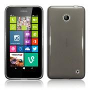 Kit Capa de TPU Premium + Película Transparente para Nokia Lumia 630 - Cor Grafite