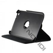 Capa em couro com suporte 360º para Tablet Samsung Galaxy Tab 3 8.0 T3110 - Cor Preta