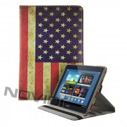 Capa para tablet personalizada Bandeira US Envelhecida Giratoria Samsung Galaxy Note 10.1 N8000