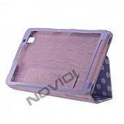Capa Smart Cover Dobravél com Bolinhas Samsung Galaxy TabPro 8.4 T320 - Cor Lilás / Branca