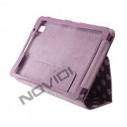 Capa Smart Cover Dobravél com Bolinhas Samsung Galaxy TabPro 8.4 T320 - Cor Roxa / Branca