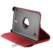 Capa para Tablet Personalizada Giratoria Samsung Galaxy Tab 4 7.0 T230 - Cor Vermelha