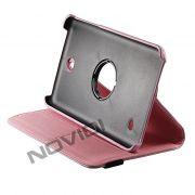 Capa para Tablet Personalizada Giratoria Samsung Galaxy Tab 4 7.0 T230 - Cor Rosa Clara