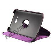 Capa em couro com suporte 360º para Tablet Samsung Galaxy Tab 3 Lite T110 / T111 - Cor Roxa