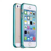 Luxury Bumper de alumínio para Apple iPhone 5/5S - Cor Azul Claro