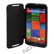 Capa Flip Cover para Motorola Moto X 2ª Geração - Cor Preta