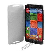 Capa Flip Cover para Motorola Moto X 2ª Geração - Cor Branca