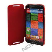 Capa Flip Cover para Motorola Moto X 2ª Geração - Cor Vermelha