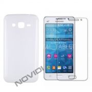 Kit Capa de TPU Premium + Película Transparente para Samsung Galaxy Gran Prime Duos G530 - Cor Transparente