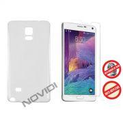 Kit Capa em TPU + Película Pro Fosca para Samsung Galaxy Note 4 - Cor Transparente
